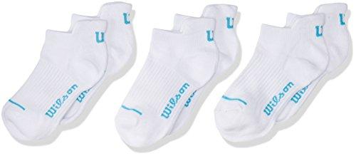 Wilson 8333 Calcetines de Deporte para Niñas, color Blanco, Talla Única (Paquete de  3 Piezas)