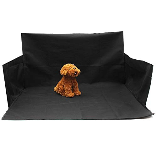 Waterproof Dog Car Boot Seat Cover, Universal Trunk Protector Mat with Bumper Flap and Nonslip Antifouling Washable Design, for Truck SUV (Black)156 x 170cm