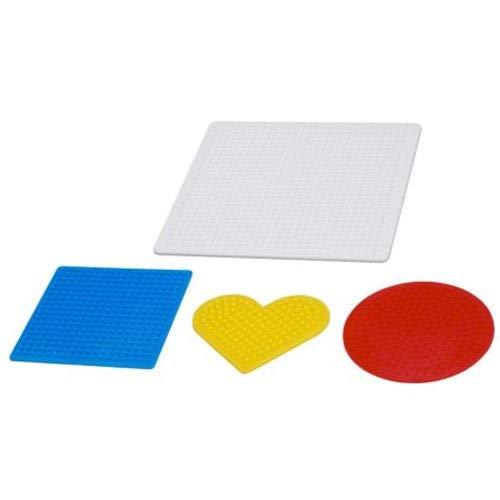 Generisch IKEA PYSSLA Bügelperlen ca. 14.000 Perlen Zubehör Steckplatten (Steckplatten 4er Set)