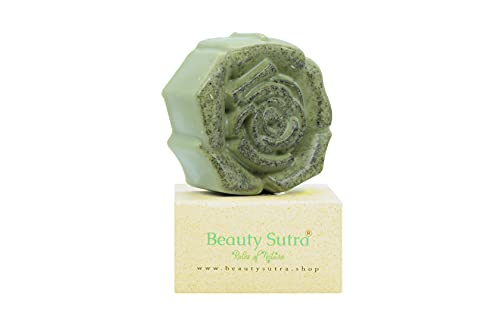 BEAUTY SUTRA Handmade Luxury Natural SPIRULINA Soap- with LEMONGRASS Essential Oil and ALOE VERA and GOAT MILK benefits