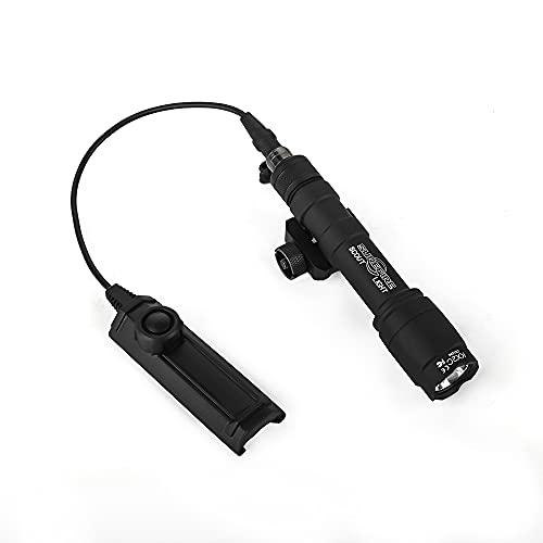 WADSN M600C フラッシュライト レプリカ 20㎜ レイル対応、デュアルリモートスイッチ付き、サバゲーの用タクティカルライト (ブラック)