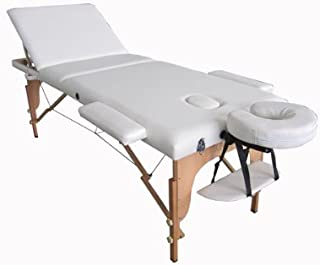 Portable Massage Table, Bed with Reclineable Back with Carrying Case