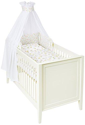 Träumeland Tt14101 Love My Teddy Parure de lit bébé – Housse de couette 100 x 135 cm + 40 x 60 cm avec auvent et tour de lit