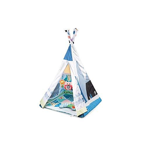 ATAA Tipi Tienda campaña Indios - Azul Genuina Tienda de campaña Tipi para niños es Convertible. Puede usarse como Tienda de campaña India o como Manta de Juegos