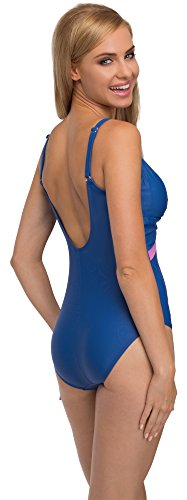 Feba Monokini Moldeador de Silueta Bañadores Trajes de Baño 1 Pieza Ropa Vestidos Playa Verano Mujer F30 (Patrón-243, EU 46 = ES (48))