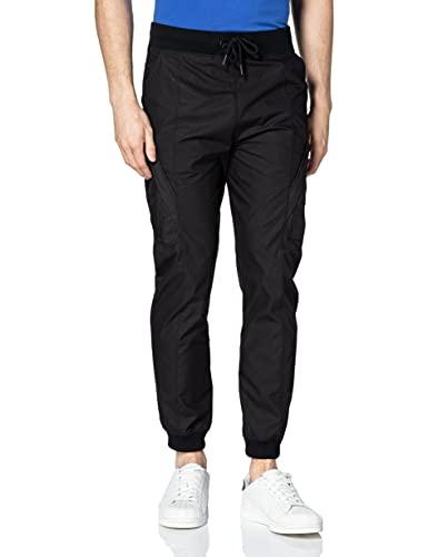 G-STAR RAW Moto Mixed Mesh Pantalón Deporte, Dk Black A790-6484, L para Hombre