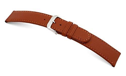 RIOS1931 Uhrenarmband Ecco Rindleder Cognac Medium Bandanstoss 16 mm