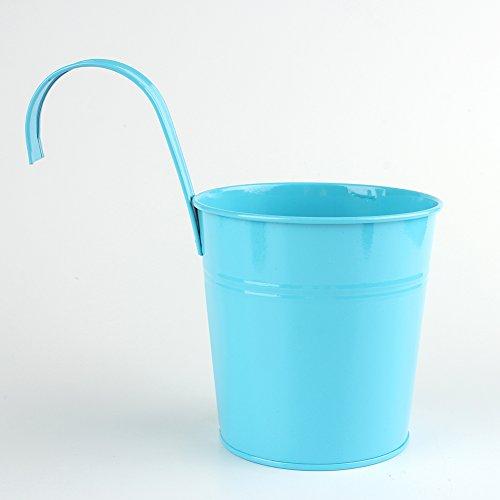 Oyfel Pot de Fleur Vase Suspendre en Metal pour Balcon Jardin 1 Pcs