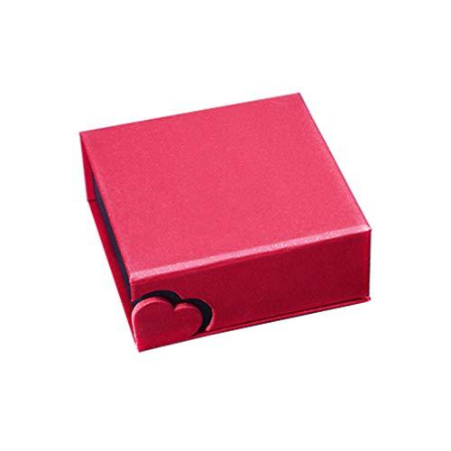 TENDYCOCO Caja de joyería de Terciopelo en Forma de corazón Reloj Pulsera Brazalete Vitrina Almacenamiento Joyero Caja de Regalo (Rojo)