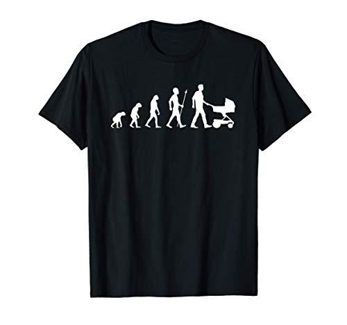 Herren Vater Geschenk Kinderwagen Evolution T-Shirt
