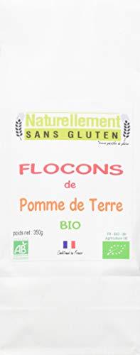 NATURELLEMENT SANS GLUTEN Flocons de Pommes de Terre Bio 350 g - Lot de 4