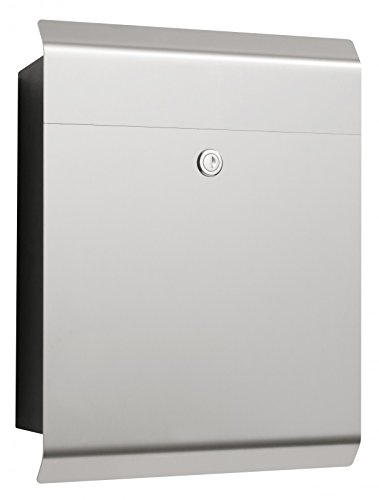 CMD Edelstahl Briefkasten Edition 49 eckig new design Postkasten 40 x 32 cm