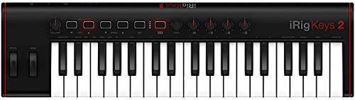IK Multimedia iRig Keys 2 - Universell einsetzbares MIDI Keyboard für iOS, Android, MAC und PC, 37 anschlagdynamische Mini-Tasten, schwarz