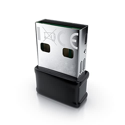 CSL - Mini Adaptador WLAN de 1300 Mbits - USB 3.2 Gen1 - AC Dual Band - Nano Adaptador - LAN inalámbrica - Dongle WiFi - Mini Banda Dual - MU MIMO - Windows 7 - 10 - Plug & Play