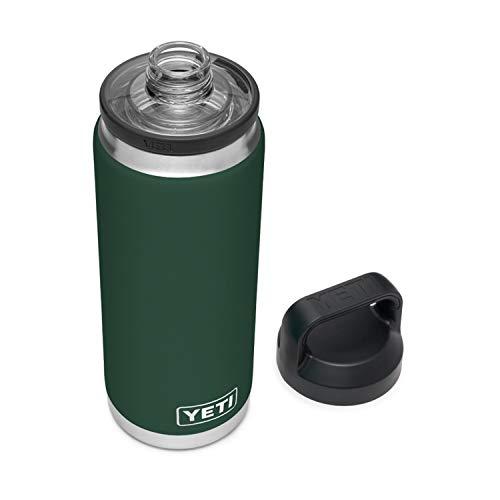 Yeti Rambler - Bottiglia isolata sotto vuoto, in acciaio INOX con tappo Chug, colore: Verde Northwoods