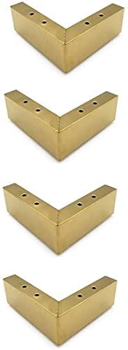 FTYYSWL Patas de muebles Muebles pies, pies de sofá, pies de gabinete de metal, cuatro juegos para mesa de té TV gabinete piso esteras gabinete pies reemplazo oro