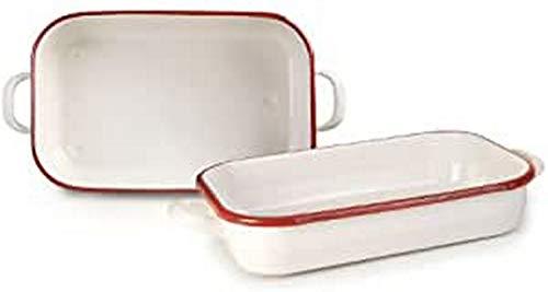 IBILI RUSTIDERA con Asas 32CM Bordeaux, White/Red, 32x22x7 cm