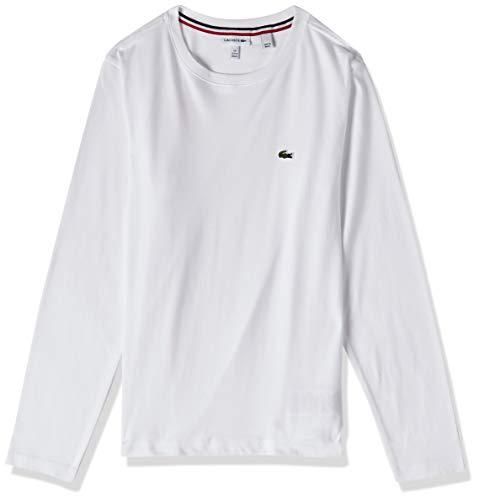 Camiseta infantil decote careca em jérsei, Lacoste, Meninos, Branco, 10