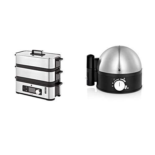 WMF Kitchenminis - Vaporera 900 W, 2 Zonas de Cocción y Función de Mantenimiento de la Calor +...