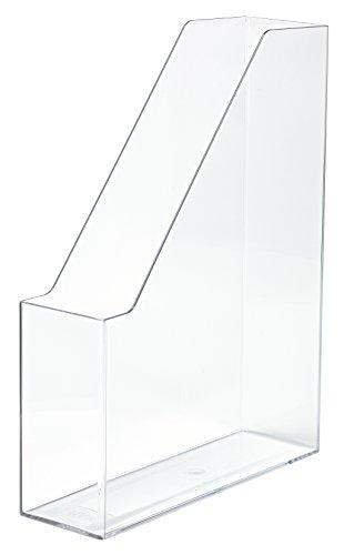 HAN Stehsammler i-Line 16501-23 in Transparent-Glasklar/Eleganter, moderner Stehsammler mit großem Volumen für Hefte, Zeitschriften & Mappen/Bis Format A4/C4