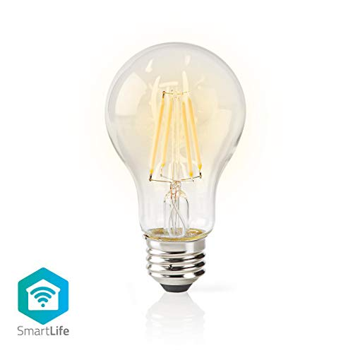 Nedis WIFILF10WTA60 WiFi Smart LED | Filamento | E27 | Blanco | A60