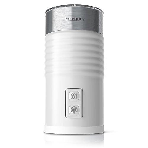 Arendo - Milchaufschäumer automatisch - Milk frother Modell Strix Controller - 2-Tasten für Warm- und Kaltaufschäumen - Überhitzungsschutz durch automatische Abschaltfunktion