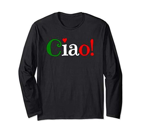 Ciao! - Begrüßung in italienischen Flaggenfarben - Niedlich Langarmshirt