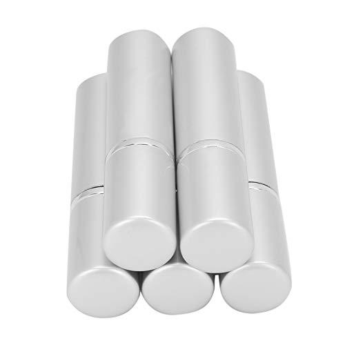 Atomizador de perfume portátil de varios colores, 5 piezas de bolsillo para botella de spray vacía en un área de spray grande simple y elegante para bolsillo o viaje,(Silver)