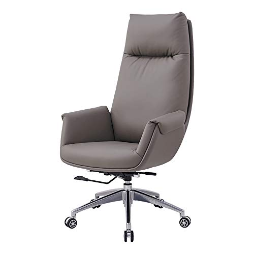 ALVEN High Back Executive Chair, Leather Boss Chair with Comfortable Backrest/Ergonomic Multifunctional Swivel Chair Suitable for Home and Office