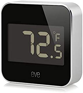 Eve Degree - Connected Weather Station for tracking temperature, humidity & air pressure; IPX3 water resistance, display, no bridge necessary, Bluetooth Low Energy (Apple HomeKit)
