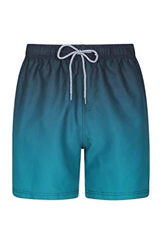 Mountain Warehouse Aruba Badeshorts mit Farbverlauf für Herren - Leichte Boardshorts schnelltrocknende Badehose Innenteil aus Netzstoff - Für Sommerurlaub am Strand Blaugrün M