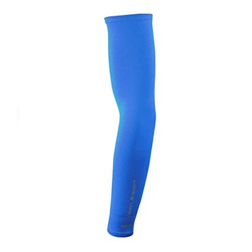1 paire Bras de refroidissement manches Bras de protection UV pour vélo/randonnée/Golf – Bleu ciel
