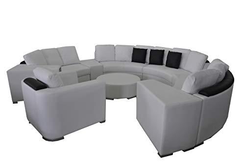 JVmoebel Runde Eck Sofa Couch XXL Big Rund Couchen Wohnlandschaft U Form Rund Polster Neu