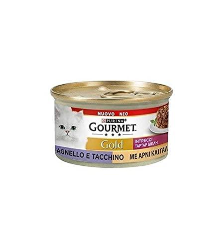 Purina Gourmet Gold - Húmedo para gatos trenzados, 24 latas de 85 g cada uno, paquete de 24 x 85 g