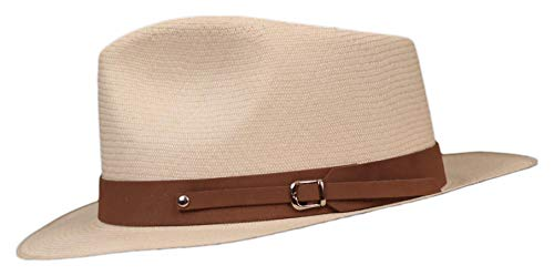 Nubuck - Leather Panama Hat Band - (1') Solid Colors (Tan)
