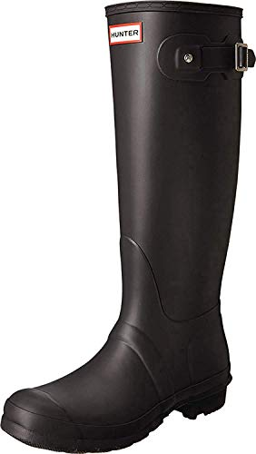 Hunter Women's Original Back Adjustable Rain Boots (8, Rumbling Red/Siren)