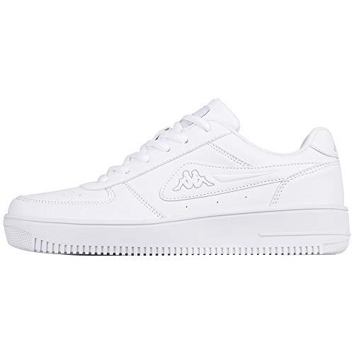 Kappa Unisex-Erwachsene Bash Sneaker, Weiß (White/L´grey 1014), 42 EU