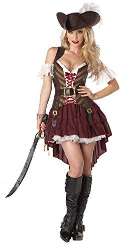California Costumes Costume da donna SEXY SWASHBUCKLER per adulti, colore borgogna, taglia M