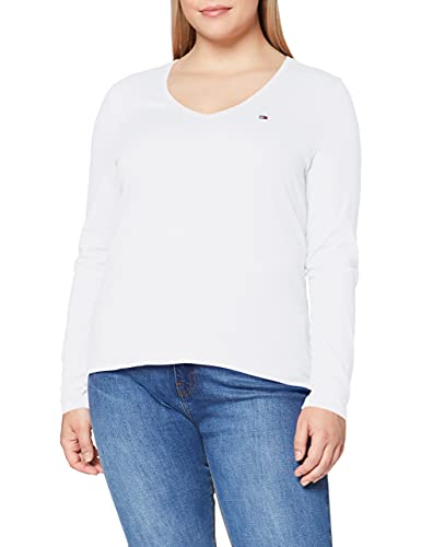camicia donna hilfiger Tommy Jeans Tjw Jersey V Neck Longsleeve Camicia