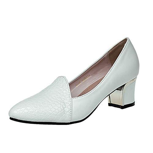Chaussures à Talons Hauts, Manadlian Chaussures Simples Rétro Pointu Chaussures Sauvages Escarpins Femmes Été