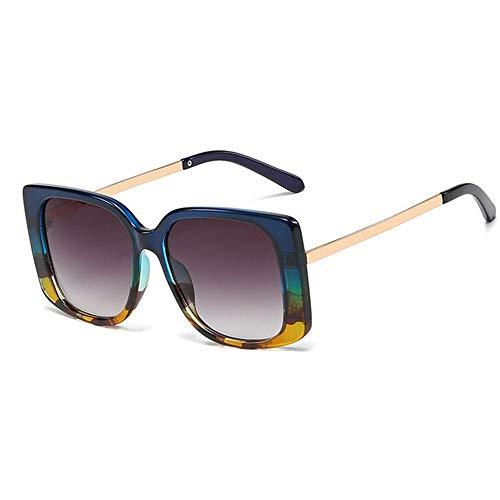 ZYJ Gafas de Sol cuadradas de Moda para Mujer Gafas de Sol Vintage Gafas graduadas de Sol Gafas de Sol Gafas de Sol de Mujer,C6 Blue Gray