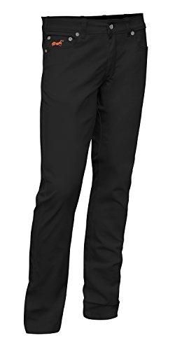 strongAnt® - Milano Pantalones Elasticos Hombre, 5 Bolsillos de algodón Estilo Jeans 260 g - Business Pantalón Elegantes clásico - Hecho en la UE - Gris Negro