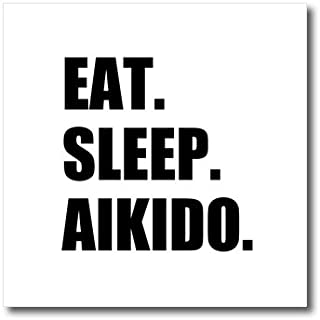 3dRose ht_180378_3 Eat Sleep Aikido-Japanese Martial Arts Love-Self Defense Sports-Iron on Heat Transfer Paper for White Material, 10 by 10-Inch