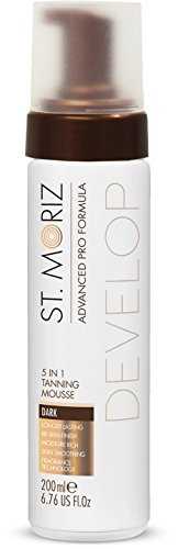 St Moriz Mousse Autobronceadora 5 en 1 Dark - Advanced Pro, 21 g, Blanco/Marrón