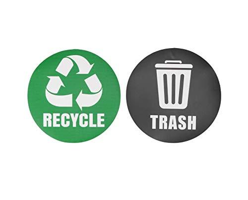 18st Miljömärkning Återvinn papperskorgsdekaler Självhäftande vattentät papperskorgsdekoration