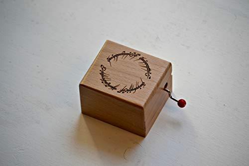 Caja de música inspirada en el Señor de los anillos y el grabado de la inscripción del anillo