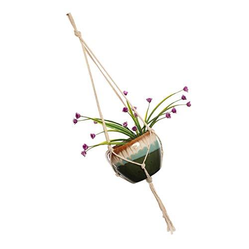 shunbang yuan Flower Pot Holder Corda appesa a Mano Tessuta Casa Pot Intrecciato Piante pensili Cesto da Borsa Bohe Giardino Fornire impianti Hanger