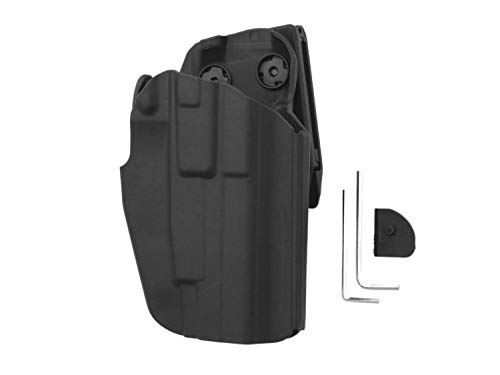 BEGADI Basic Airsoft Universal Hartschalen Holster, voll verstellbar, für größere Pistolen -schwarz-