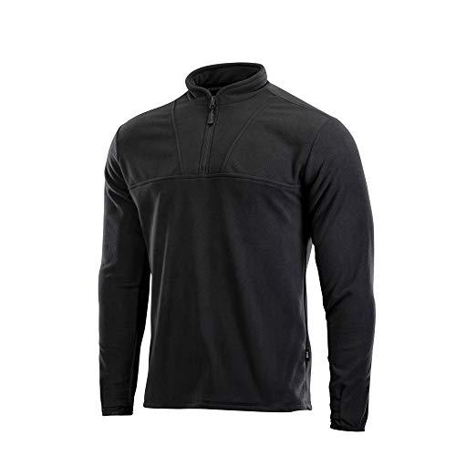 M-Tac Fleece Jacket Underwear Sweater Tactical Top Delta (Black, XXL)