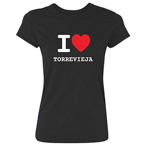 JOllify Frauen T-Shirt TORREVIEJA G3659 - Farbe: schwarz - Design 1: I Love - Ich Liebe - Größe XS